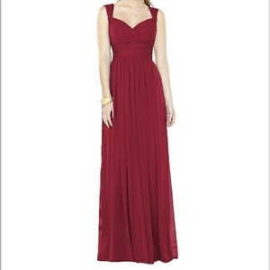 After Six Bridesmaid Dress 6712.  Claret color.